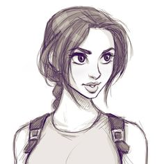 Always time for a Lara sketch. #sketch #doodle #art #illustration #drawing #tombraider #laracroft #cameronmarkart