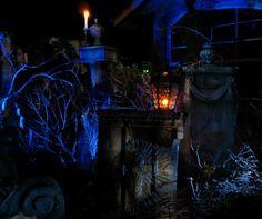Halloween Forum member AuraofForeboding's cemetery setup