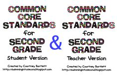 Swimming Into Second: Common Core Standards for 2nd grade