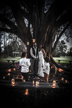 A beautiful intimate second wedding / vow renewal ceremony with kids!