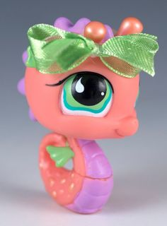 Littlest Pet Shop Seahorse #802 Peach With Green Eyes #Hasbro