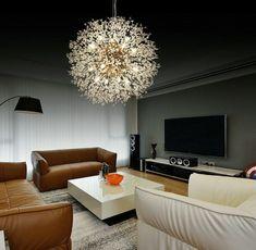 Crystal Chandelier Lighting, Diy Chandelier, Chandelier Ceiling Lights, Gold Ceiling, Lounge Ceiling Lights, Lounge Lighting, Pendant Light Fixtures, Ceiling Light Fixtures, Pendant Lamp