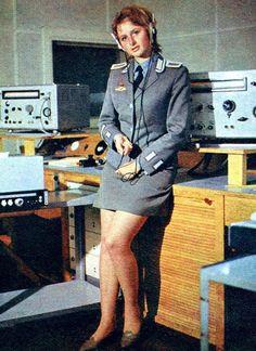 1980s. East German military female officer