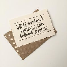 You're wonderful greeting card – The People shop