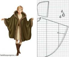 Coats from one piece of fabric with edge trim (Translate) Coat Patterns, Dress Sewing Patterns, Clothing Patterns, Fashion Sewing, Diy Fashion, Sewing Clothes, Diy Clothes, Diy Kleidung, Make Your Own Clothes
