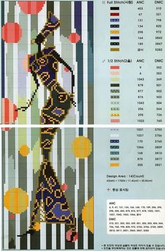 0 point de croix femme africaine - cross stitch african lady