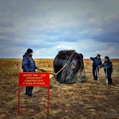 March 22016 Kazakhstan Steppe photo by @shaulachwarz After two days of traveling through the Kazakhstan steppe on an unforgettable adventure  I got to see astronaut Scott Kelly land safely  from his year long mission to space. It's unbelievable that this tiny charcoaled tin can carried three astronauts back to our planet safely. #yearinspace by natgeo