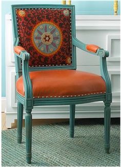 Chair decorated with a Suzani