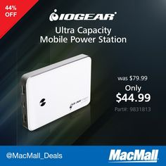 AM Does your day outlast your phone? Save 44% on an #IOGEAR ultra capacity mobile power station.
