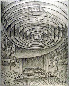 Faust, fragmentos de Goethe, desenho de Josef Svoboda