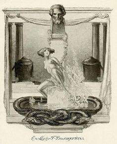 Franz von Bayros  Ex Libris- 蔵書票 Bayros Room バイロスの部屋 Room  1-018 1914