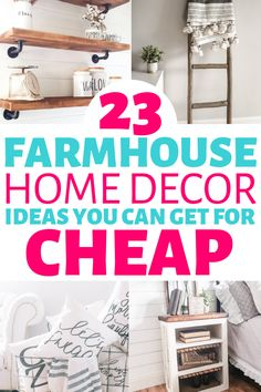 These 23 farmhouse decor items on a budget are THE BEST! I'm so happy I found where to buy cheap farmhouse decor online! Now I have some cute rustic decor items to decorate my home with! #farmhousedecor #rusticdecor #farmhouse