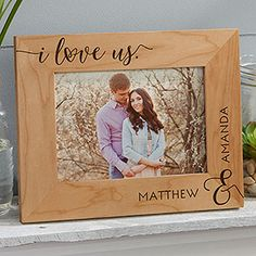 I Love Us Personalized Picture Frame- 5 x 7