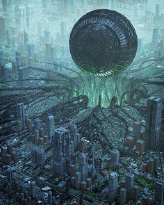 Cyberpunk City, Ville Cyberpunk, Cyberpunk Kunst, Futuristic City, Futuristic Architecture, Dark Fantasy Art, Fantasy Kunst, Fantasy City, Fantasy Places
