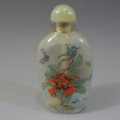 ANTIQUE CHINESE INTERIOR PAINTED GLASS SNUFF BOTTLE : Lot 482