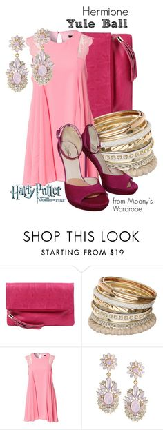 """""""Hermione: Yule Ball"""" by evalupin ❤ liked on Polyvore featuring Kate Hill, Miss Selfridge, TFNC, Carolee, harrypotter, HermioneGranger, yuleball, hermione and GobletofFire"""