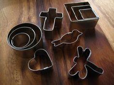 mini cookie cutters for working with precious metal clay