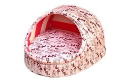Micat® Cute Soft Pet Nest House Puppy Teddy Dog Cat Bed with Removeable Cushion…