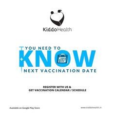 Relax just download the Kiddo #Health medical app on your mobile and you will know the next #vaccination on time. #KiddoHealth #MedicalApp