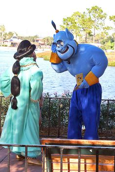Princess Jasmine and Genie, Aladdin Disney Cast, Disney Love, Disney Magic, Disney Ideas, Disney Stuff, Disney Parks, Walt Disney World, Disney Pixar, Disney Worlds