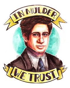 X-Files Mulder print by offbeatandwhimsical on Etsy