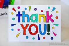 Three 'thank you' cards to make with your kids using our simple printable starters.