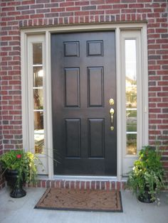 Front Door Ideas For Red Brick Houses.Brick House Front Door Color Homes In 2019 Exterior . 14 Best Front Door Colors Front Door Paint Ideas For . Best Front Doors, Black Front Doors, Wooden Front Doors, Painted Front Doors, Black Windows, Painted Exterior Doors, Best Exterior Paint, Exterior Paint Colors, Paint Colours