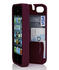 Syrah wallet case for the iPhone 5/5s. Neat way to keep everything you need in one place.