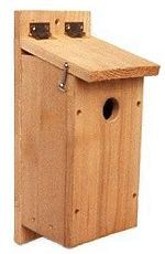 nestbox plans for chickadees, nuthatches, titmice, and downy woodpeckers