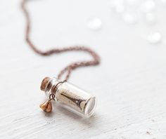 Someone needs to buy this for me! Paris Bottle necklace  Gift for traveler N049 by BeautySpot, $22.00
