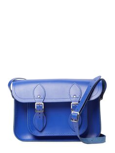 Leather Satchel Bag by The Cambridge Satchel Company at Gilt Leather Satchel, Satchel Bag, Cambridge Satchel, Blue Bags, Shoulder Strap, Shoulder Bags, Autumn Fashion, Logo Design, Product Launch