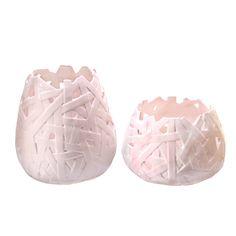 Vasos Teia Pode ser vendidos em cjto ou separadamente. www.mercidecor.com