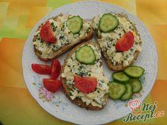 Vajíčková pomazánka s medvědím česnekem Avocado Egg, Avocado Toast, Recipies, Eggs, Breakfast, Bar, Drinks, Breads, Recipes