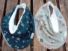 Infinity Baby Scarf-Bib Set of Two Scarves With Two by ZigZagRags