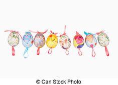 Resultado de imagem para ovos de páscoa pintados a mao