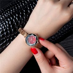 Fashion Womens Watches Trendy Rose Gold Thin Strap Colorful Dial Quartz Minimalist Watches for Women online - NewChic Jewelry Sets, Women Jewelry, Things To Buy, Stuff To Buy, Waterproof Watch, Latest Fashion Clothes, Dress Fashion, Quartz Watch, Quartz Crystal