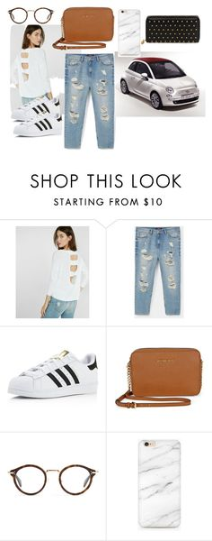 """""""Driving my Friends to the Airport"""" by design360 ❤ liked on Polyvore featuring Express, Violeta by Mango, adidas, Michael Kors, CÉLINE and Alexander McQueen"""