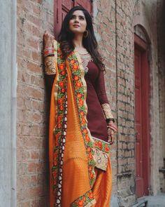 Punjabi Fashion, India Fashion, Ethnic Fashion, Asian Fashion, Punjabi Girls, Punjabi Suits, Punjabi Couple, Punjabi Bride, Patiala Suit