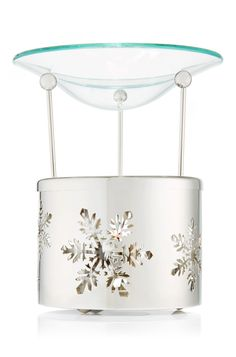 Silver Snowflake Oil Warmer - Slatkin & Co. - Bath & Body Works
