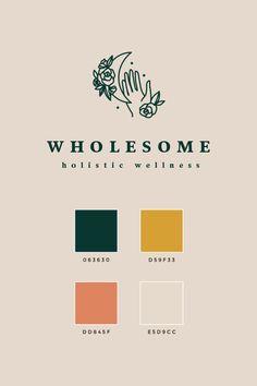 Pre-made Branding Package: Wholesome Colour Pallete, Color Schemes, Logo Color Combinations, Color Palettes, Brand Design, Logo Design, Brochure Design, Design Design, Design Ideas
