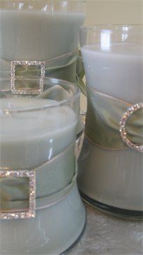 make these w/buckles and your favorite color for weddings or your home.