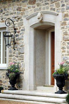 So many beautiful elements – the stonework, the limestone surround, the lantern style.