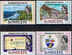St Vincent 1967 Methodist Church Set Fine Mint SG 257/60 Scott 252/5 Other St Vincent Stamps HERE