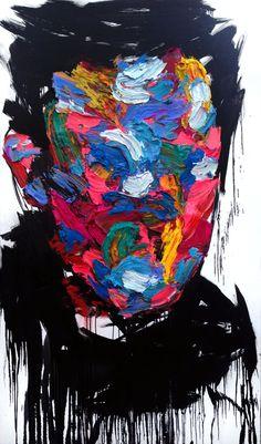 untitled oil on canvas 193.9 x 112.1 cm 2013 by KwangHo Shin