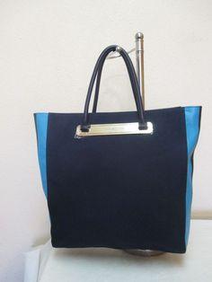 Tommy Hilfiger Handbag Tote 6928414 467 Genuine Leather Color Blue Gold $148.00 #TommyHilfiger #Totes
