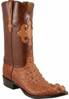 Mens Lucchese Classics Peanut Brittle Hornback American Alligator Custom Hand-Made Cowboy Boots L1015
