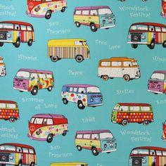 Canvas Summer of Love 2 - mélange de couleurs - Tissus 1970-1979 - Tissus 1960-1969 - Premier appartement - Tissus de décoration - Tissus de décoration rétro - Autres tissus de décoration - tissus.net
