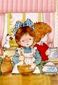 Sarah Kay Sara Kay, Vintage Drawing, Decoupage Vintage, Holly Hobbie, Writing Paper, Freelance Illustrator, Cute Images, Card Sketches, Love Painting