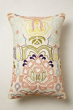 Beaded Water Lily Pillow #anthropologie