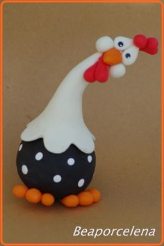 polymer clay chicken